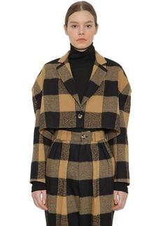 Faith Connexion Cropped Wool & Cotton Jacket