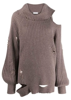 Faith Connexion distressed roll-neck jumper
