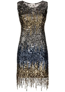 Faith Connexion fringed sequinned mini dress