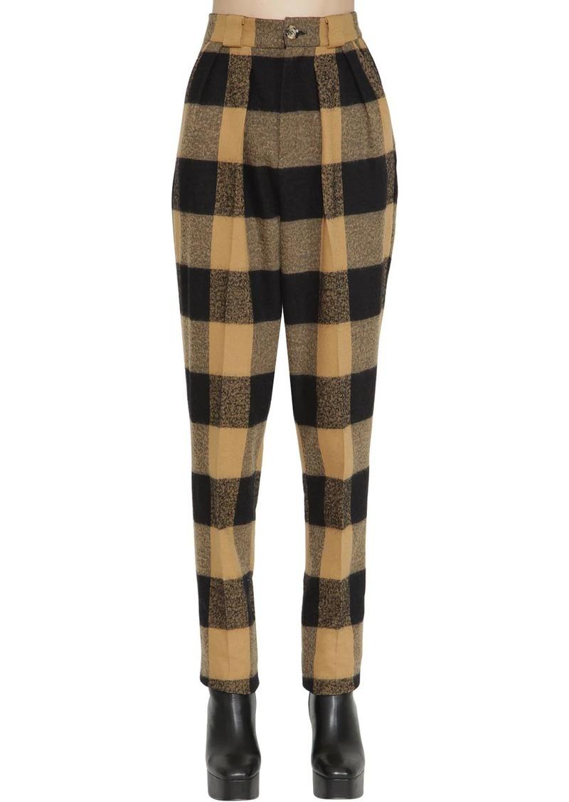 Faith Connexion High Waist Wool & Cotton Pants