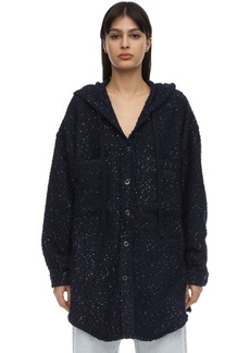 Faith Connexion Hooded Sequin Embellished Tweed Jacket