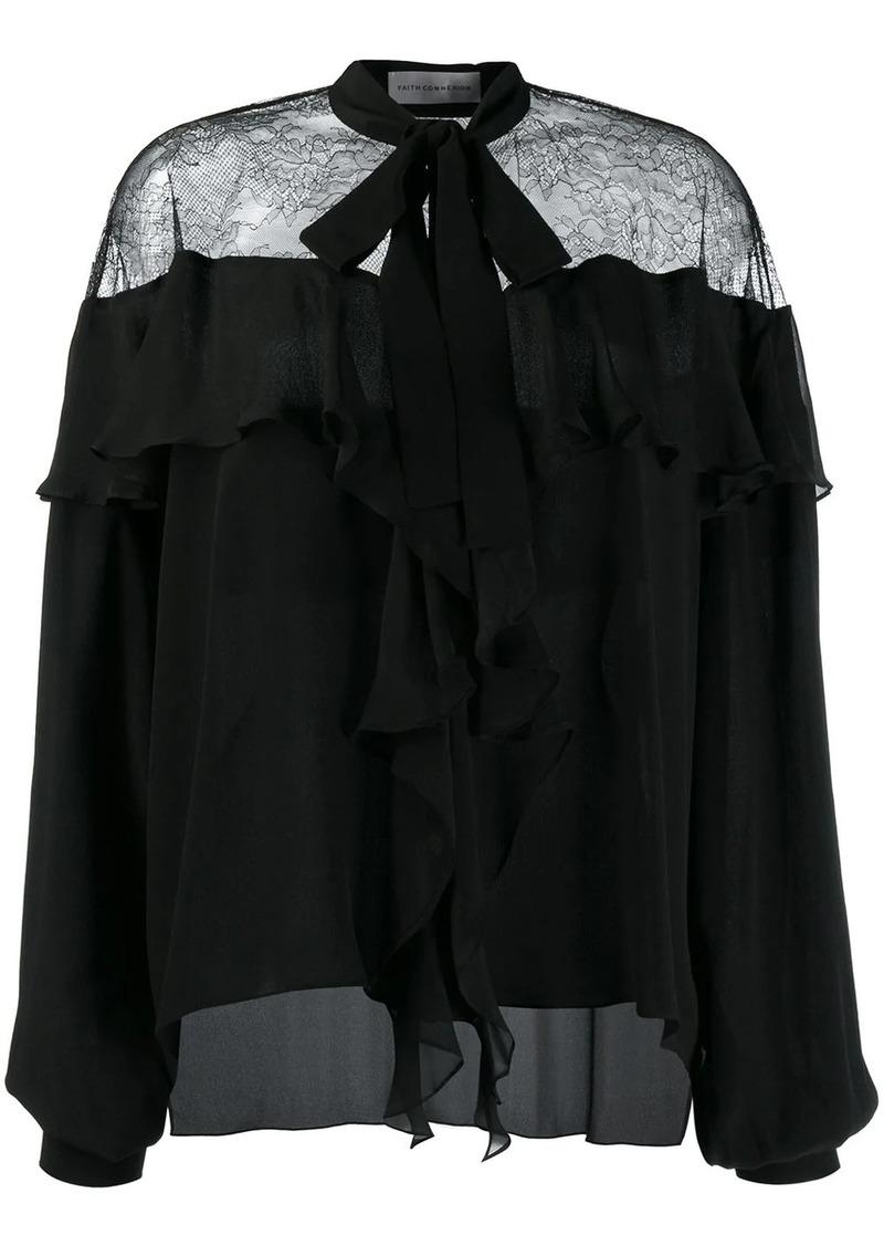 Faith Connexion lace-panelled blouse