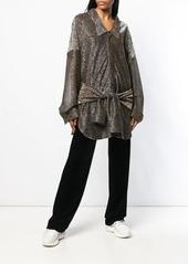 Faith Connexion metallic knotted blouse