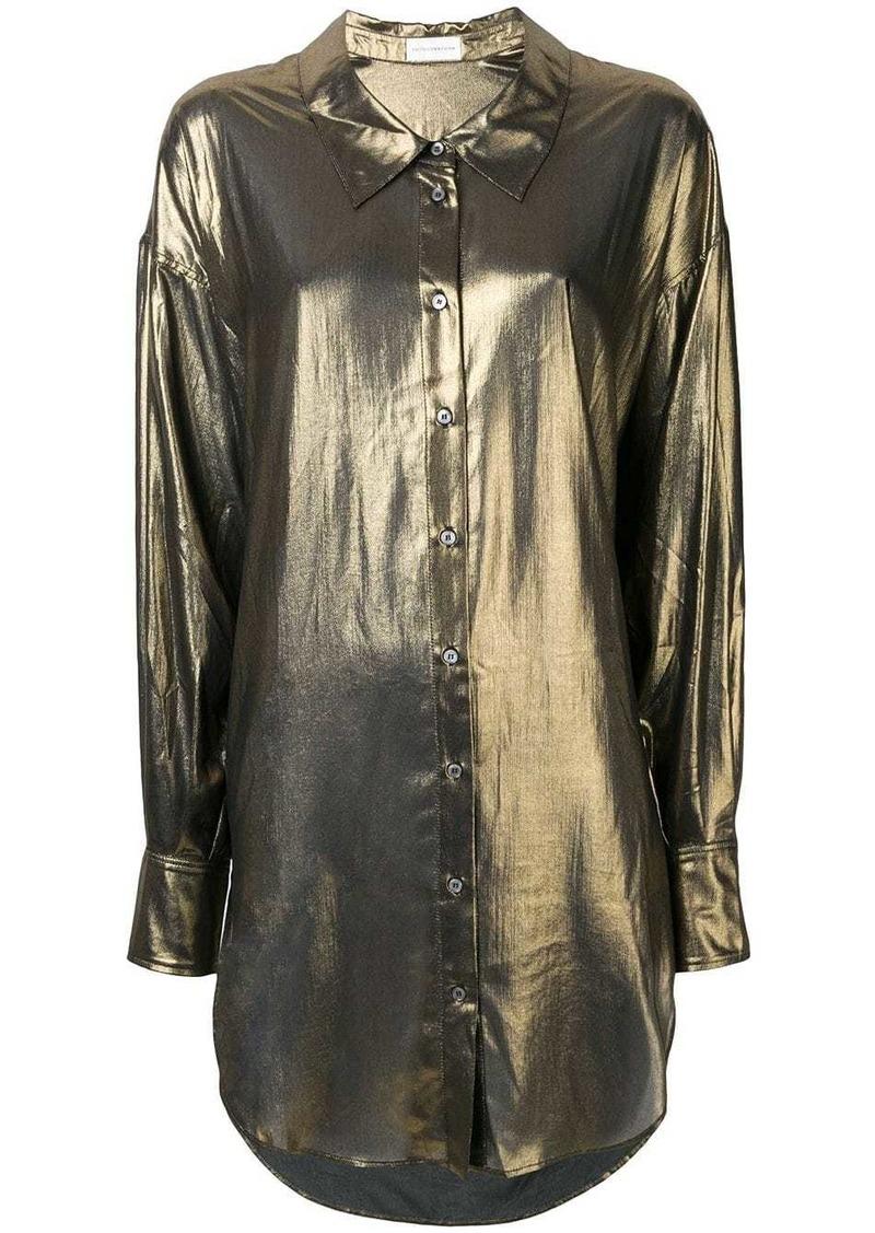 Faith Connexion metallic loose fit blouse