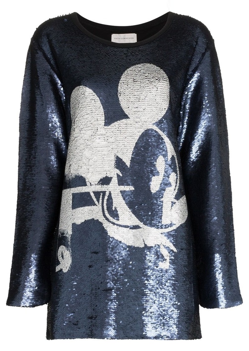 Faith Connexion Mickey sequin embellished blouse