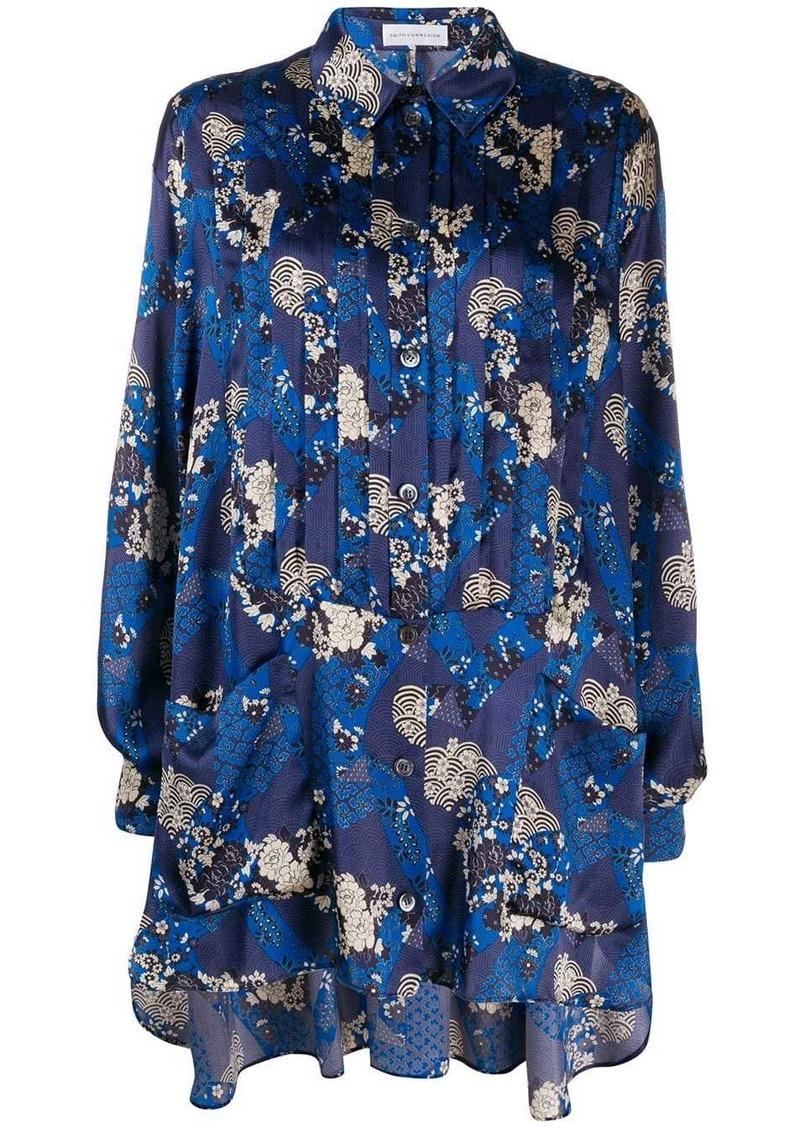 Faith Connexion multi-print longline shirt