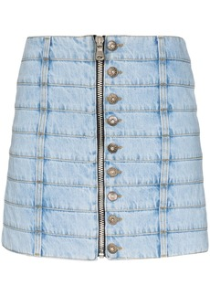 Faith Connexion panelled denim mini skirt