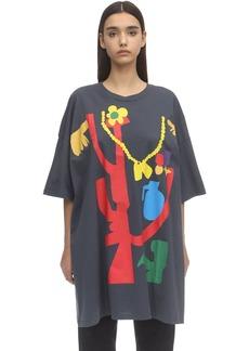 Faith Connexion Printed Cotton Jersey T-shirt Dress