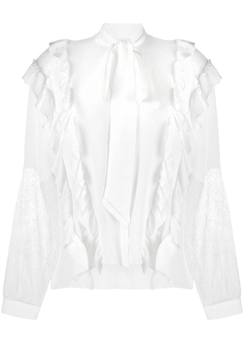 Faith Connexion silk pussybow blouse