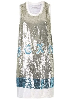Faith Connexion star-motif sequinned dress