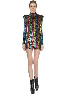 Faith Connexion Structured Stretch Velvet Mini Dress