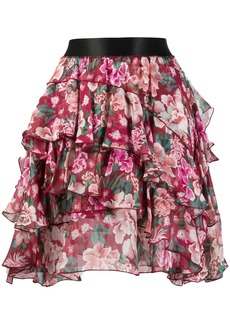 Faith Connexion tired floral printed skirt