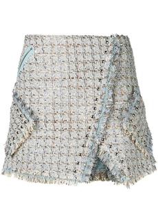 Faith Connexion tweed wrap skirt
