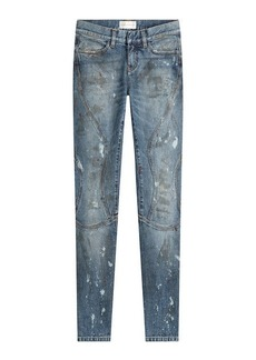 Faith Cropped and Distressed Skinny Jeans
