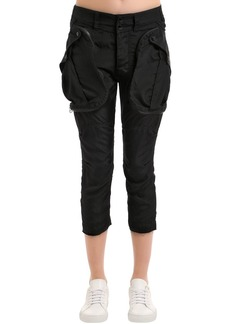Faith Cropped Silk Cargo Pants