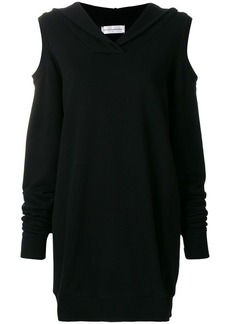 Faith cut-out shoulder hoodie