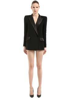 Faith Double Breasted Tuxedo Cady Romper