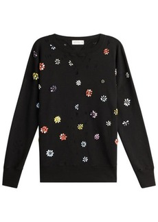 Faith Embellished Cotton Pullover