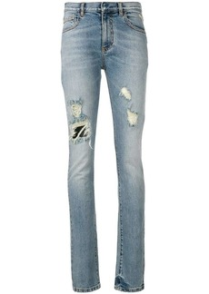 Faith faded distressed jeans