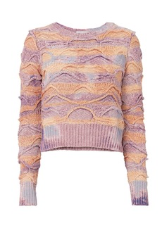 Faith Multi-Bleached Cropped Sweater