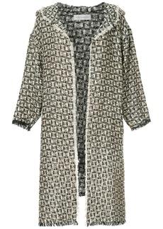 Faith asymmetric hooded jacket