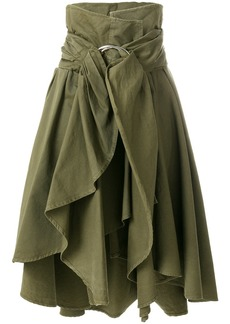 Faith asymmetric ruffle skirt