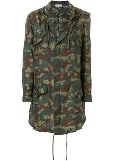 Faith camouflage print raincoat
