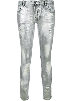 Faith coated metallic jeans