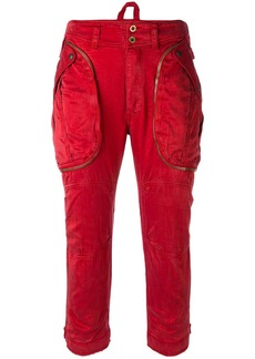 Faith Connexion cropped cargo trousers - Red