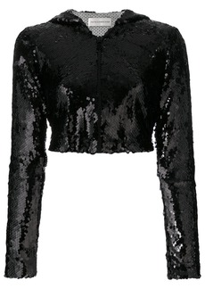 Faith cropped sequinned jacket