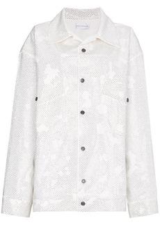 Faith Crystal Oversized Denim Jacket