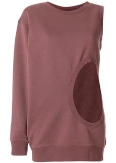 Faith cut-detail asymmetric sweater