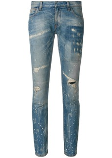 Faith distressed low cut jeans