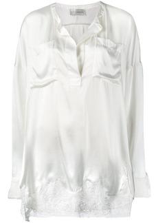 Faith lace panel blouse