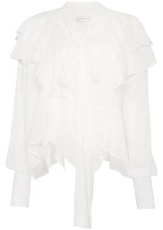 Faith Laval silk ruffled blouse