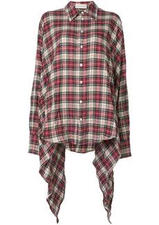Faith long hem detail plaid shirt