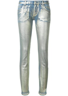 Faith metallic effect skinny jeans