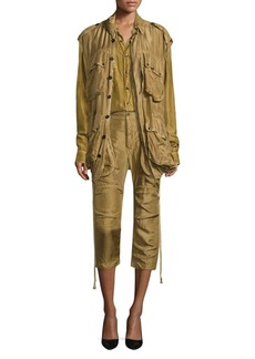 Faith Military Silk Parka