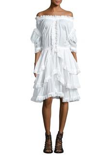 Faith Off-the-Shoulder Sailor Dress