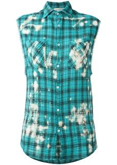 Faith plaid sleeveless shirt