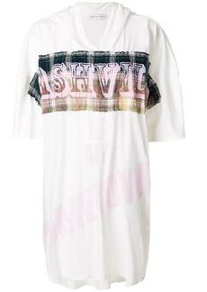 Faith print hooded oversize T-shirt