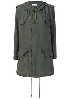 Faith short-sleeve parka coat