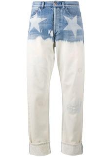 Faith star print wide-leg jeans