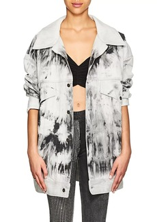 Faith Connexion Women's Bleached Denim Oversized Jacket