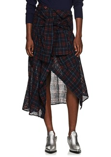 Faith Connexion Women's Checked Shirt Wrap Skirt