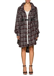 Faith Connexion Women's Embellished Tweed Oversized Shirt Jacket