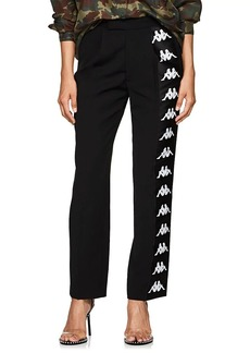 Faith Connexion Women's Logo-Striped Twill Track Pants