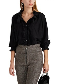 Faith Connexion Women's Ruffle Silk Blouse