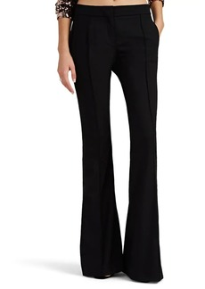 Faith Connexion Women's Satin-Trimmed Wool-Blend Flare Trousers