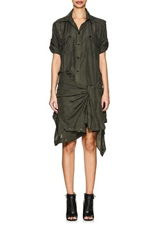 Faith Connexion Women's Silk Tie-Waist Shirtdress